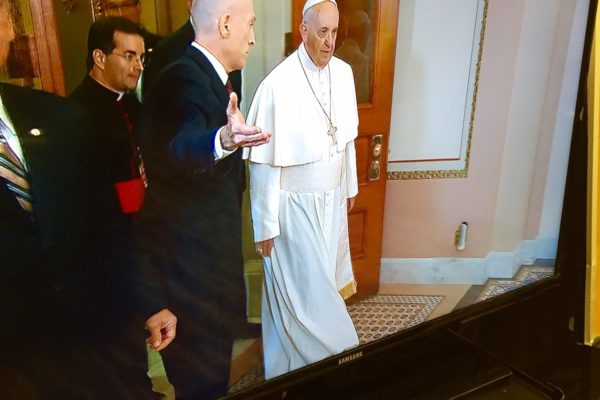 Pope Francis visits the Congress